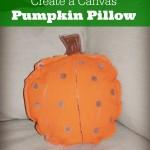 DIY Canvas Pumpkin Pillow Decoration