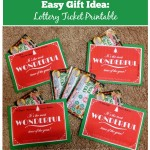 Easy Gift Idea: Lottery Ticket Printable for December