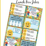 Printable LEGO Lunch Box Notes using LEGO Jokes