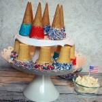 Festive Patriotic Ice Cream Cones