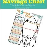 Printable Savings Chart for Kids: Help Kids Set and Reach Financial Goals