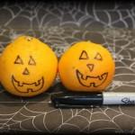 Healthy Halloween Food: Pumpkin Orange Jack-o-Lanterns