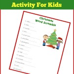 Activities for Kids: Christmas Word Scramble