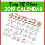 Printable Elf on the Shelf Calendar of Ideas #ElfOnTheShelf